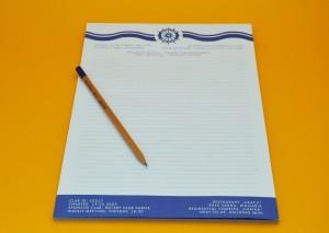 Фирмена бланка с лого и контакти и молив с лого в 1 цвят.