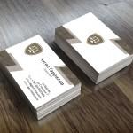 Двустранни визитки със специален ламинат кадифе