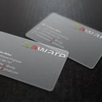 Прозрачни визитки от полипропилен, 3 цвята