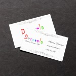 Двустранни визитни картички с ламинат мат 200 микрона