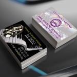 Визитни картички със селективен обемен лак