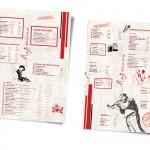 еднолистово меню А3 с ламинат мат