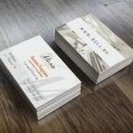 Двустранни визитни картички