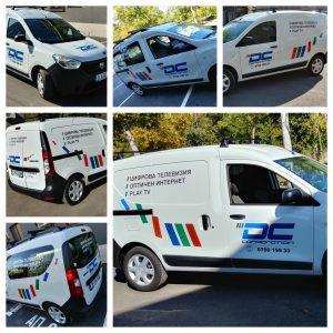 Браниране на поредица от фирмени автомобили на DC Corporation - най-новия доставчик на модерни и сигурни комуникационни услуги във Варна.